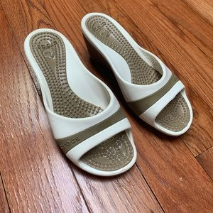 Crocs wedges slides shoes
